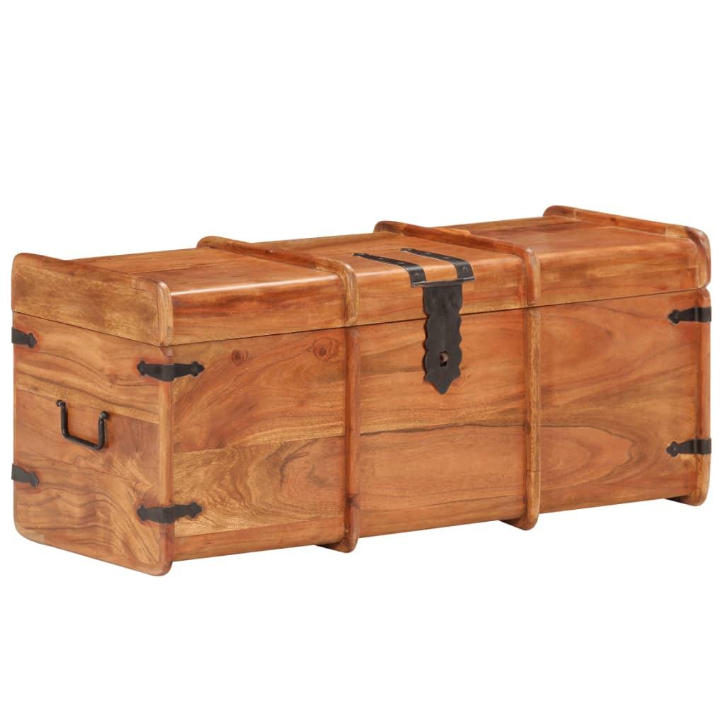 vidaXL Cufăr de depozitare, 90 x 40 x 40 cm, lemn masiv de acacia poza 2021 vidaXL