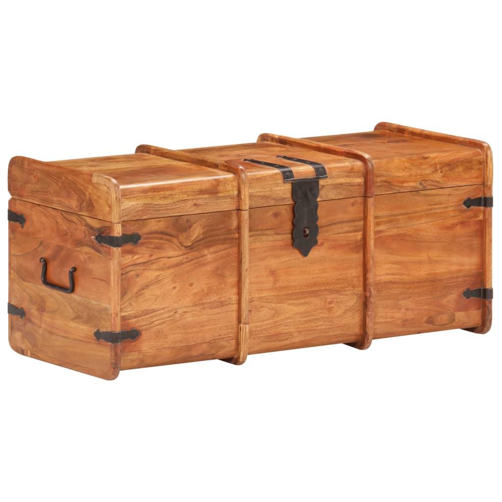 vidaXL Opbergkist 90x40x40 cm massief acaciahout