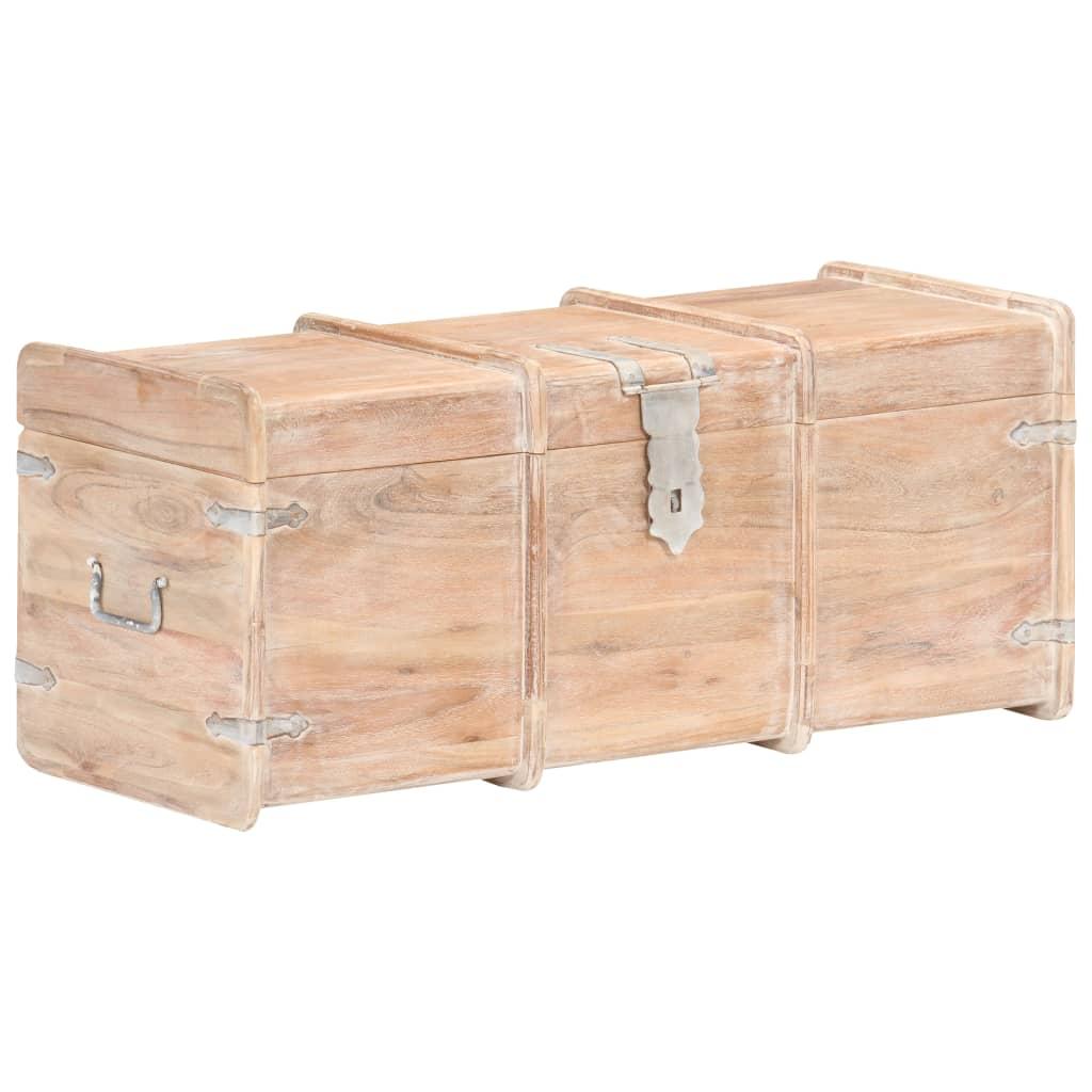 vidaXL Cufăr de depozitare, 90 x 40 x 40 cm, lemn masiv de acacia imagine vidaxl.ro