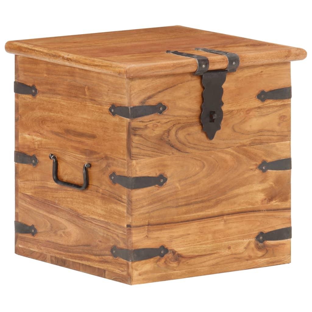 vidaXL Cufăr, 40 x 40 x 40 cm, lemn masiv de acacia poza 2021 vidaXL