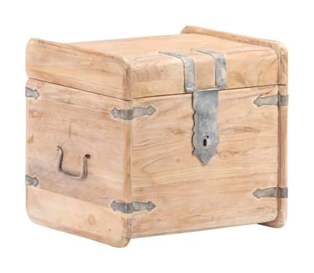 vidaXL Baúl de madera maciza de acacia 40x40x40 cm