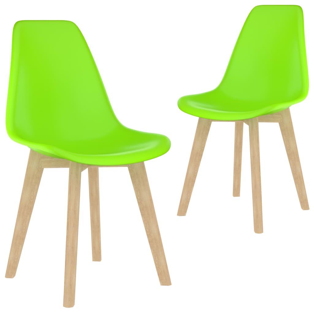 Jídelní židle 2 ks zelené plast