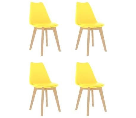 vidaXL Scaune de bucătărie, 4 buc., galben, plastic