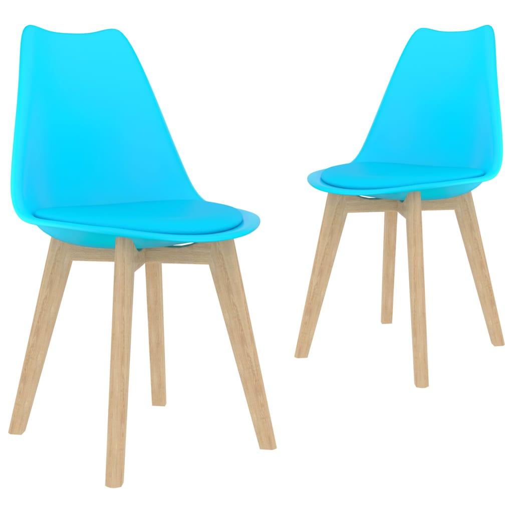 Jídelní židle 2 ks modré plast