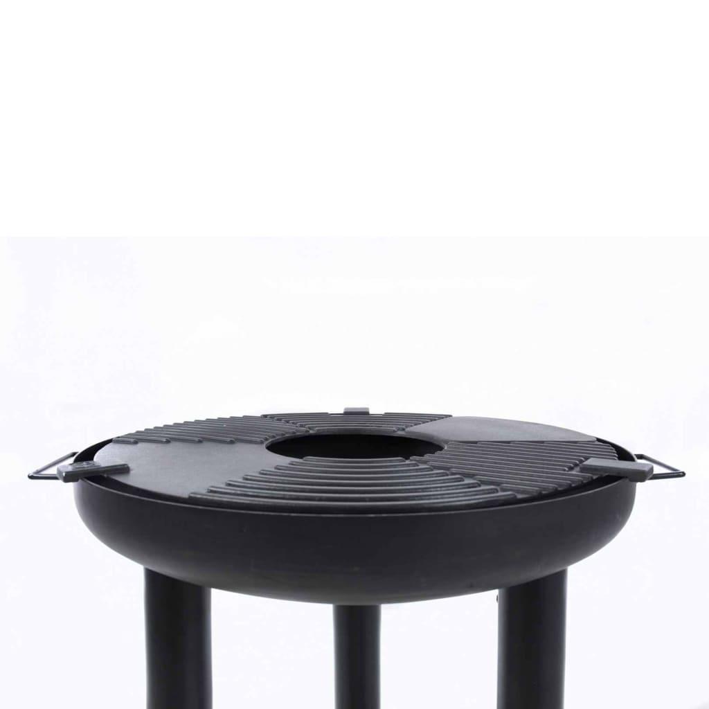 BBGRILL Grătar plancha barbecue, negru, oțel poza vidaxl.ro