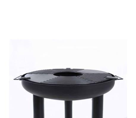 BBGRILL Barbecue gril à plancha Noir Acier