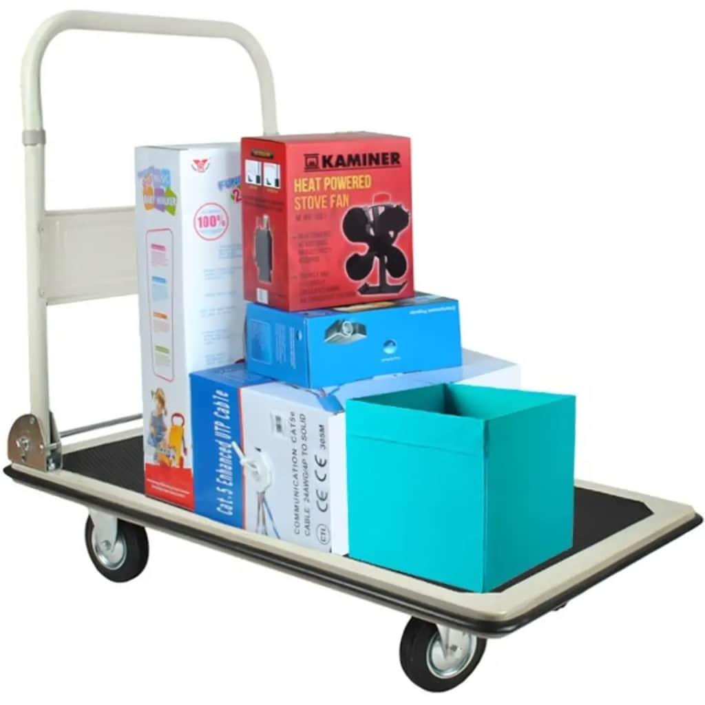 Afbeelding van AA Commerce Platformwagen Transportwagen Platformkar Magazijnwagen