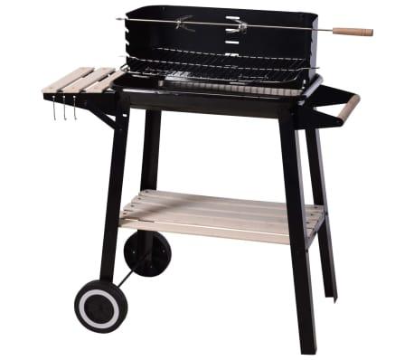 ProGarden Houtskoolbarbecue 86,5 cm zwart