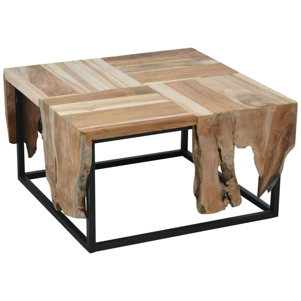 Ambiance Tavolino da Salotto in Teak 65x65x35 cm