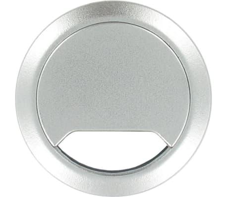 3x Kabeldoorvoer aluminium zilver 80 mm - Elektra kabeldoorvoeren