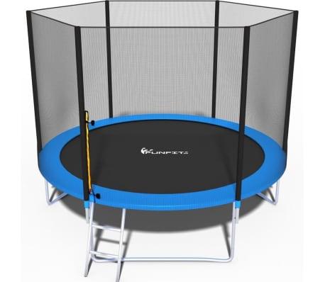 Trampoline - Blauw - 312 Cm - Met Net En Ladder - Tot 120 Kg