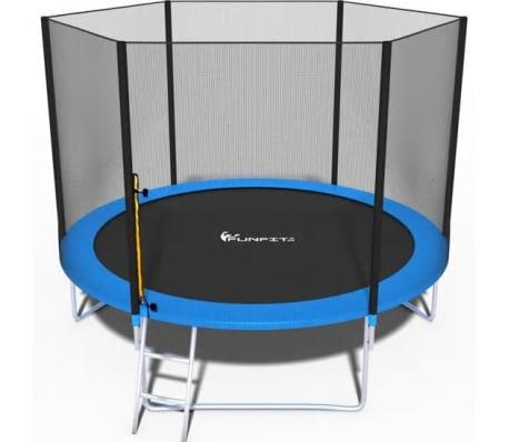 Viking Sports Trampoline blauw 312 cm met net en ladder tot 120 KG