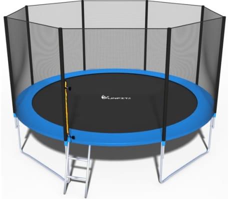 Viking Sports Trampoline blauw 404 cm met net en ladder tot 180 KG