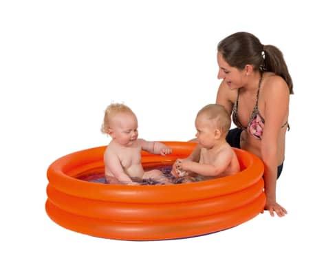 Oranje opblaasbaar zwembad 122 x 23 cm speelgoed - Rond zwembadje -