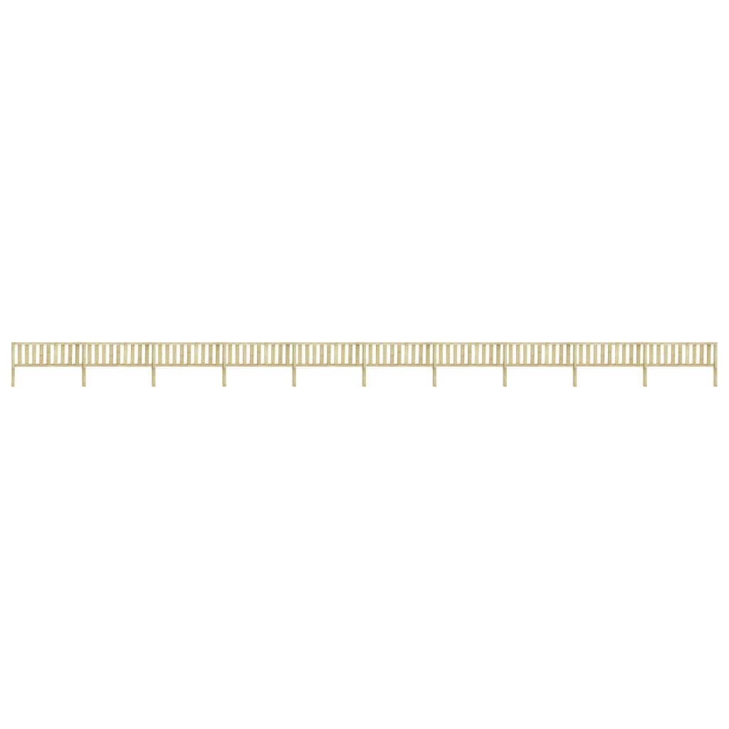 vidaXL Gard de grădină, 17,66 x 1,1 m, lemn de pin tratat vidaxl.ro