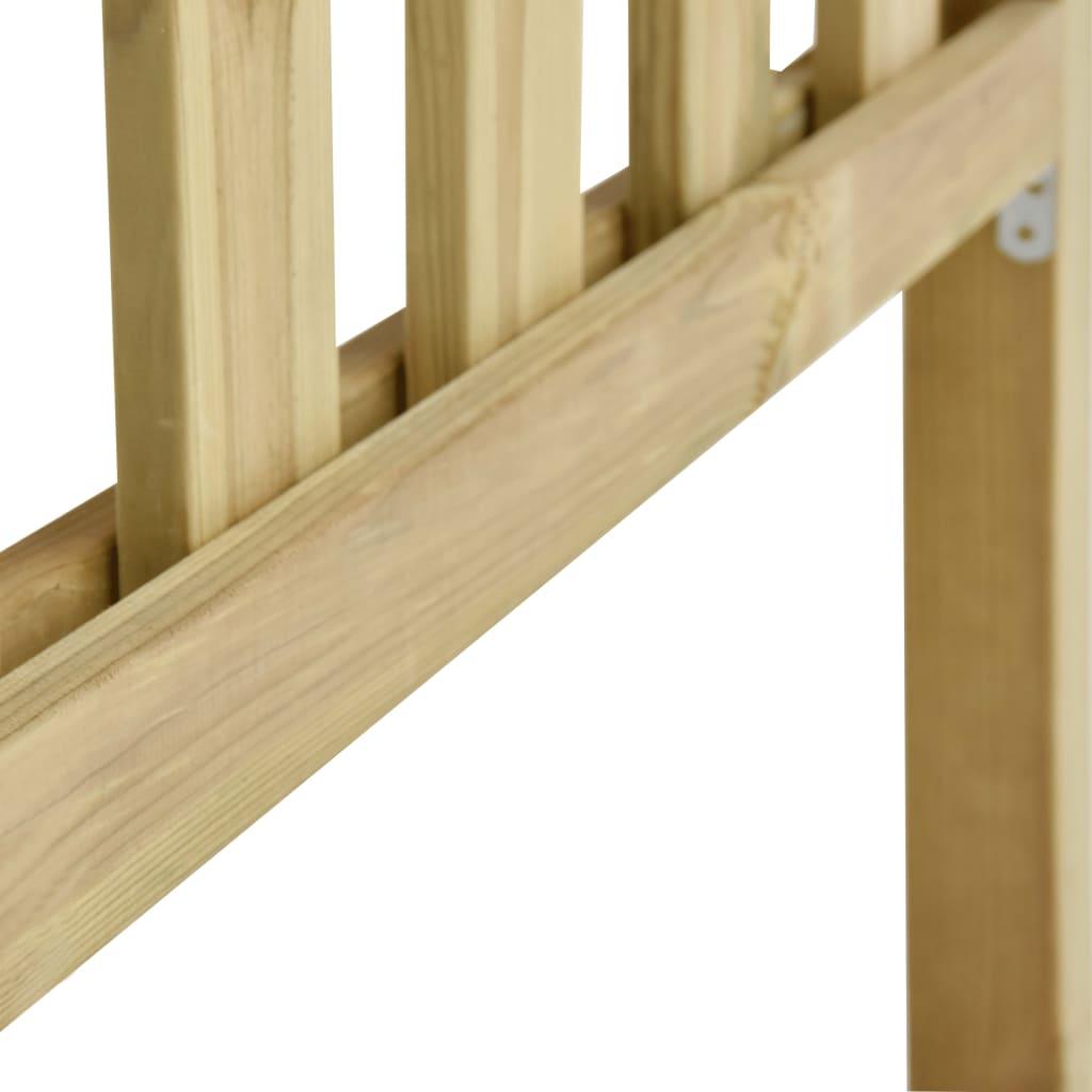 vidaXL Hek 8,86x1,3 m geïmpregneerd grenenhout
