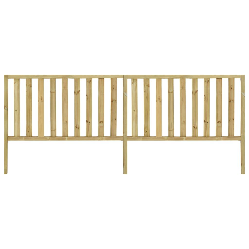 vidaXL Gard de grădină, 3,58 x 1,5 m, lemn de pin tratat poza vidaxl.ro