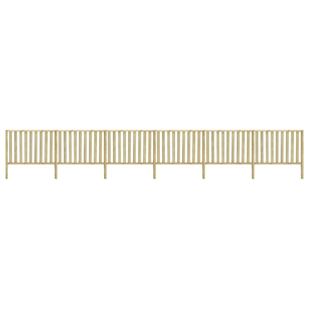 vidaXL Gard de grădină, 10,62 x 1,7 m, lemn de pin tratat vidaxl.ro
