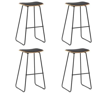 vidaXL Barové stoličky 4 ks čierne umelá koža