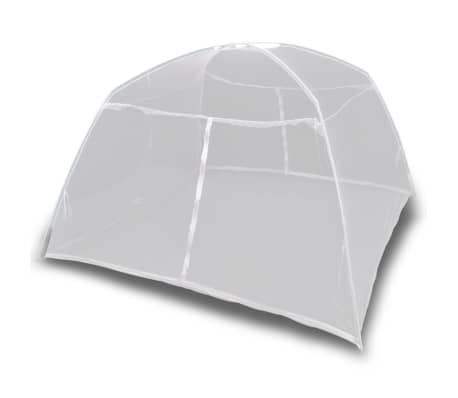 vidaXL Campingtält 200x120x130 cm fiberglas vit