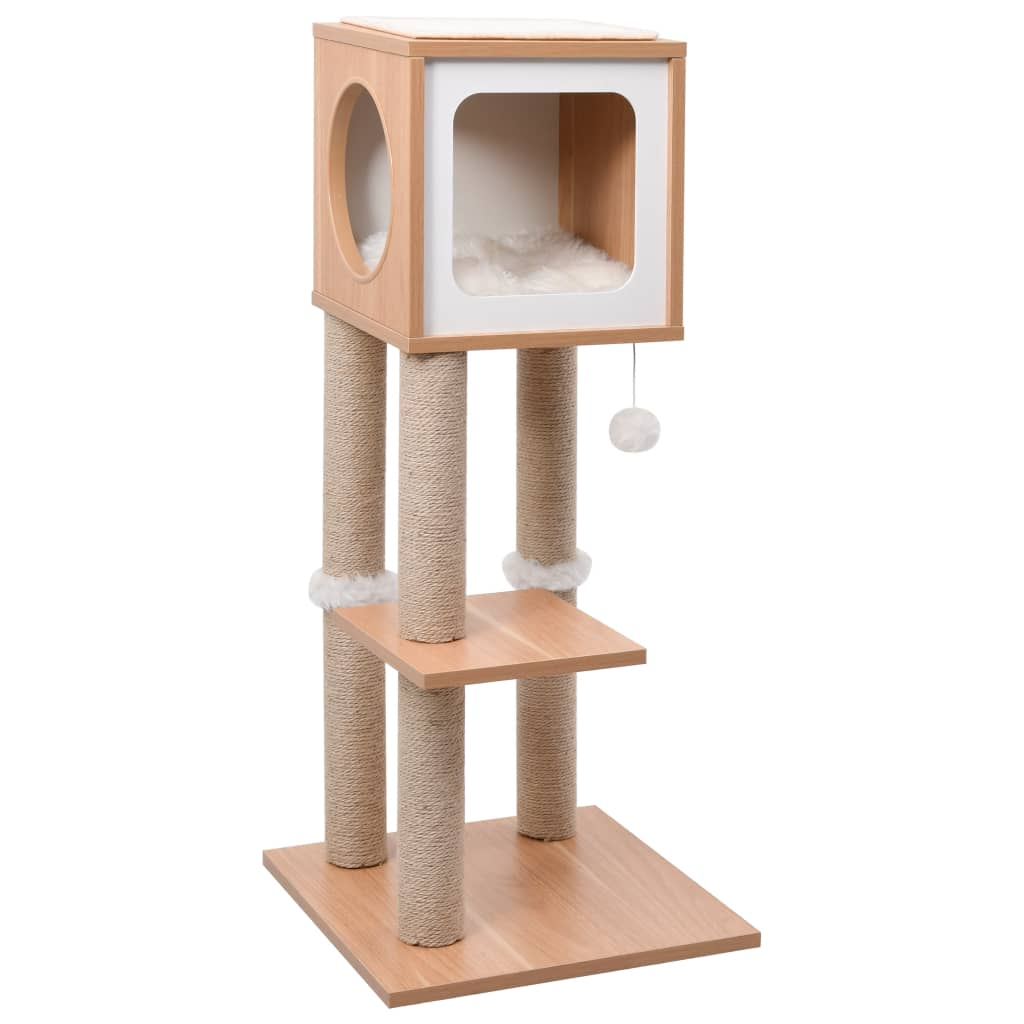 vidaXL Ansamblu pentru pisici, covoraș din funie de sisal, 90 cm