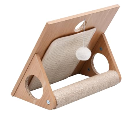 This triangular cat scratcher is a perfect choice for your cats to play, scratch and explore while saving your furniture from damaging!
