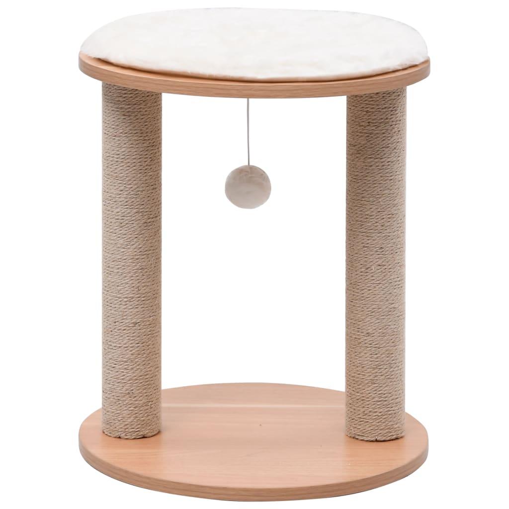 vidaXL Ansamblu pentru pisici mic cu stâlpi de zgâriat, 44 cm poza 2021 vidaXL
