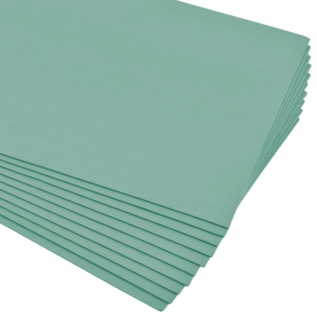vidaXL Plăci de spumă izolatoare XPS, verde, 5 mm, 100x50 cm, 40 m² imagine vidaxl.ro