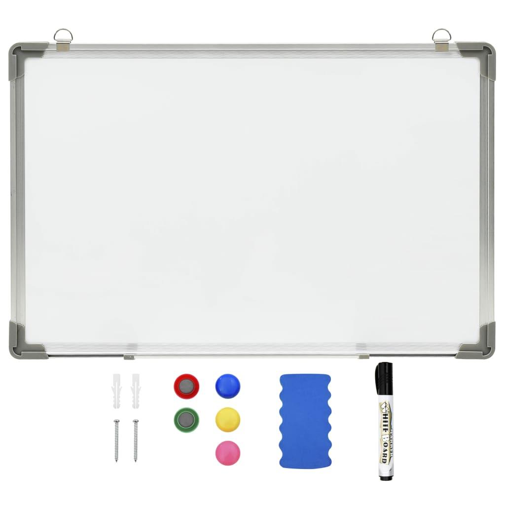 Bílá magnetická tabule stíratelná za sucha 50 x 35 cm ocel