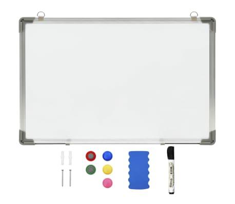 vidaXL Magnetic Dry-erase Whiteboard White 50x35 cm Steel