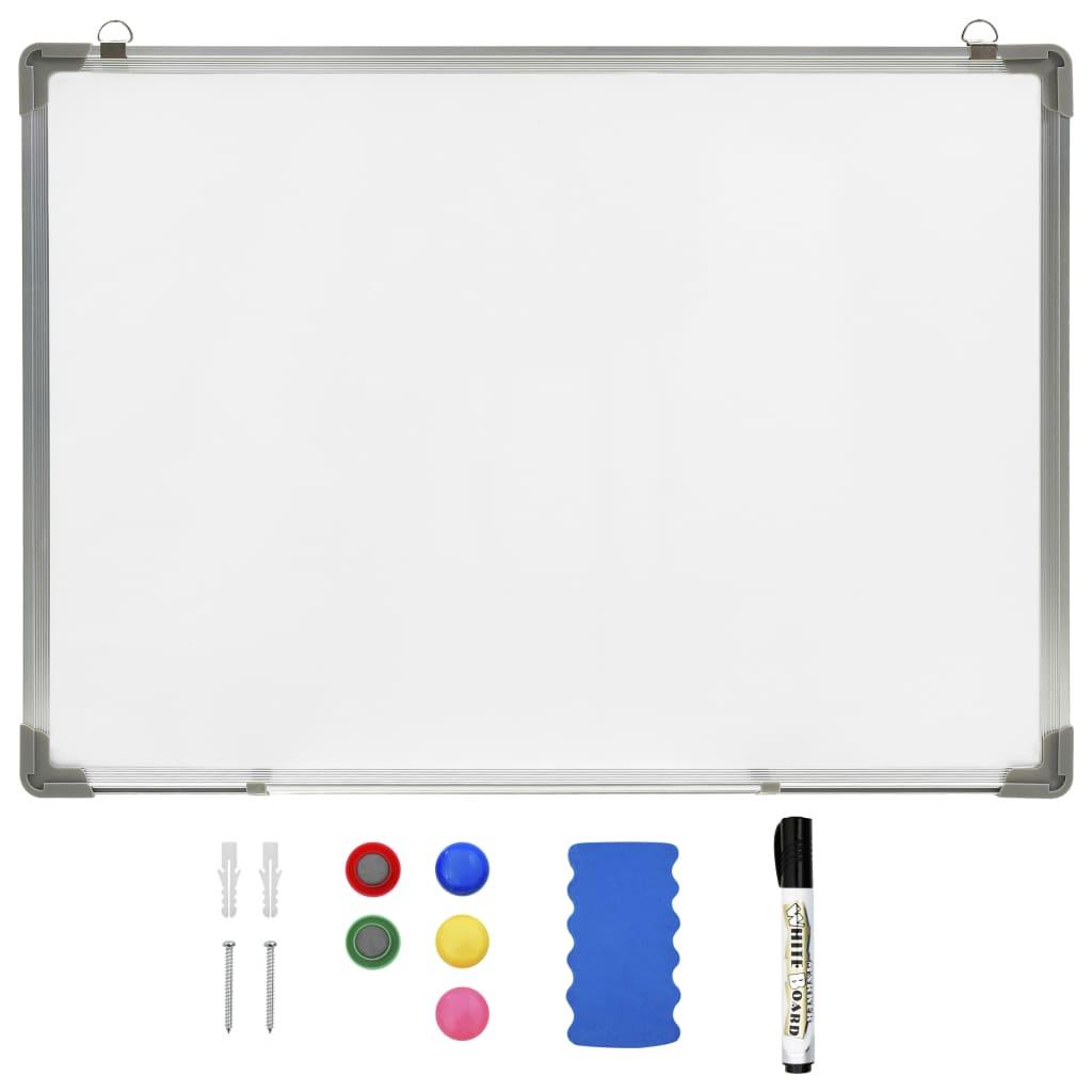 Bílá magnetická tabule stíratelná za sucha 90 x 60 cm ocel