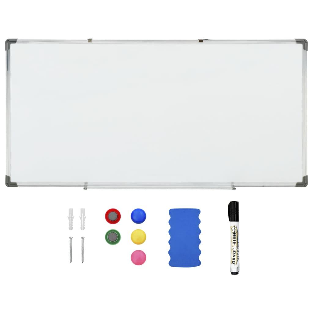 Bílá magnetická tabule stíratelná za sucha 120 x 60 cm ocel