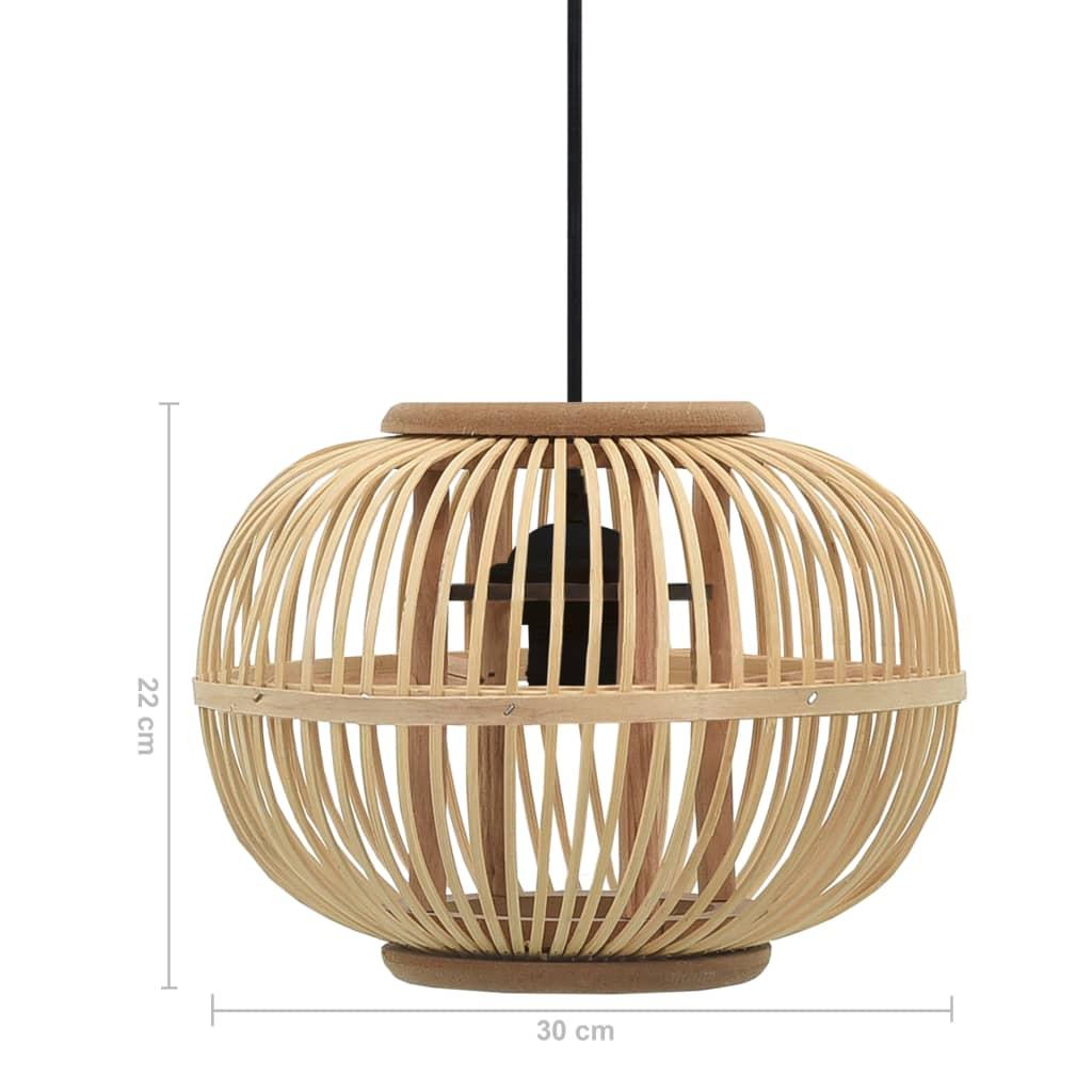 vidaXL Hanglamp bol 40 W E27 30x22 cm wilgen