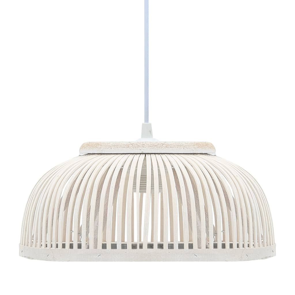 vidaXL Lampă suspendată, 30 x 12 cm, bambus, 40 W, semicerc, E27 poza vidaxl.ro
