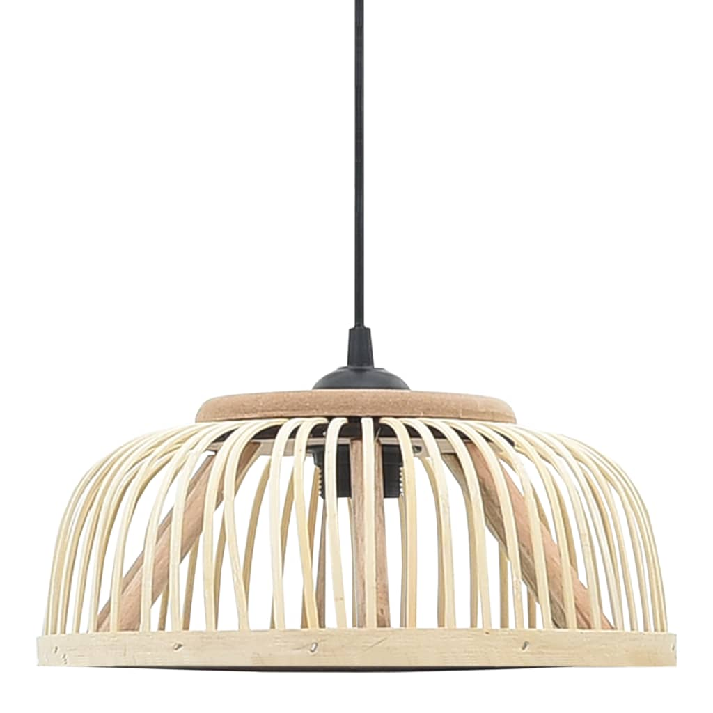 vidaXL Lampă suspendată, 34x14,5 cm, bambus, 40 W, semicerc, E27 poza 2021 vidaXL