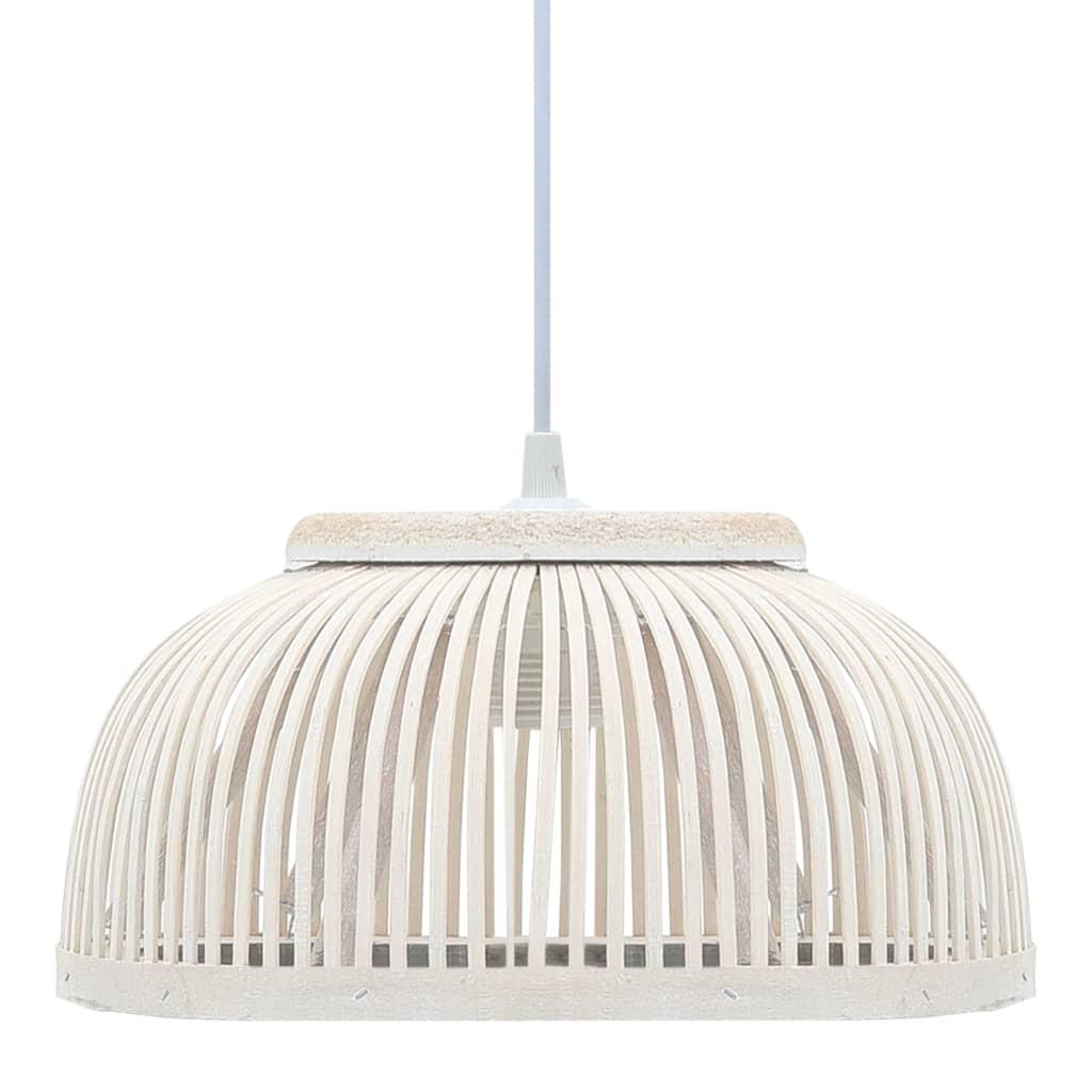vidaXL Lampă suspendată, 37 x 15,5 cm, bambus, 40 W, semicerc, E27 poza 2021 vidaXL