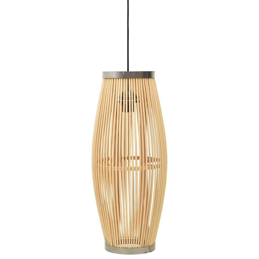 vidaXL Lampă suspendată, 21x50 cm, răchită, 40 W, oval, E27 poza vidaxl.ro
