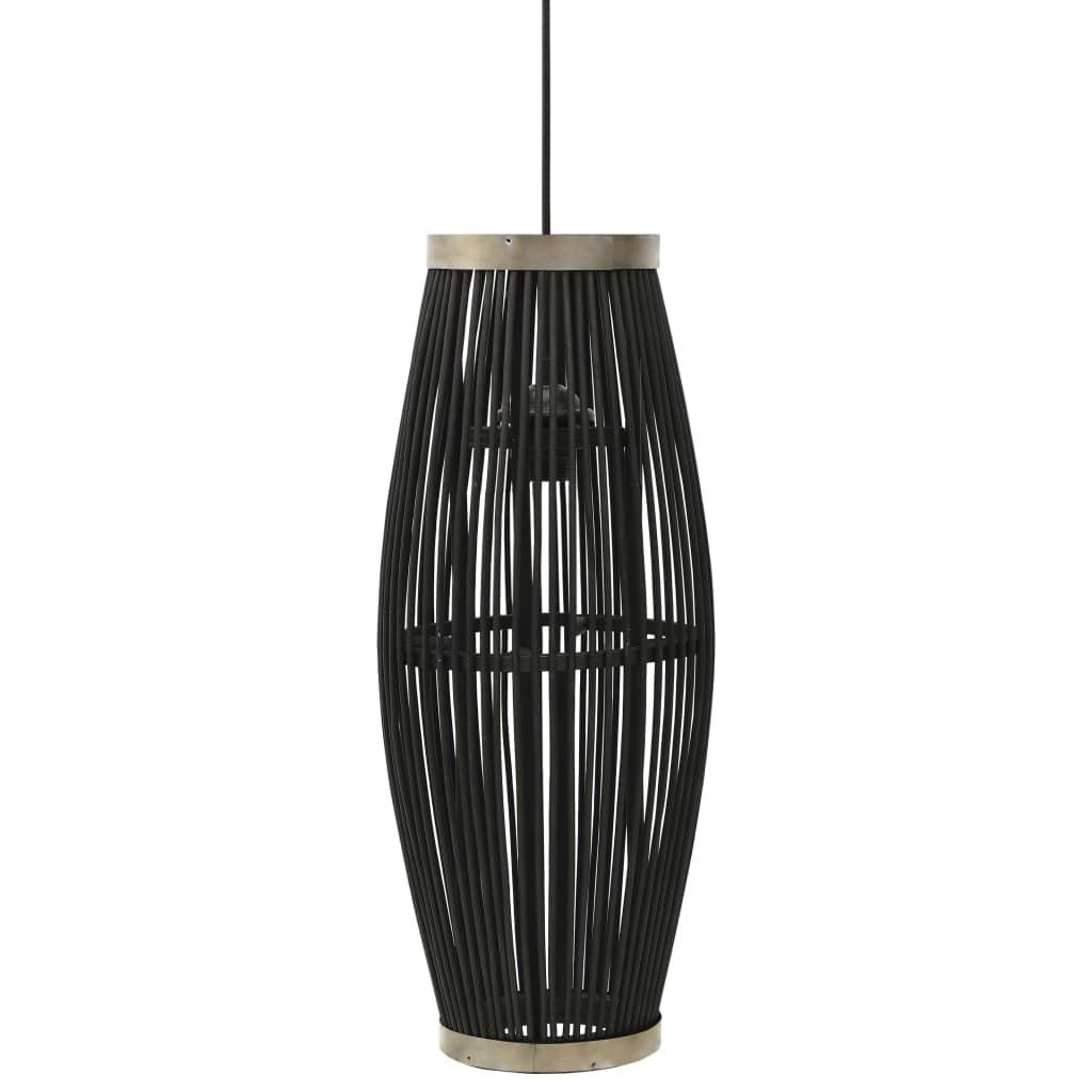 Závěsné svítidlo černé vrba 40 W 23 x 55 cm ovál E27