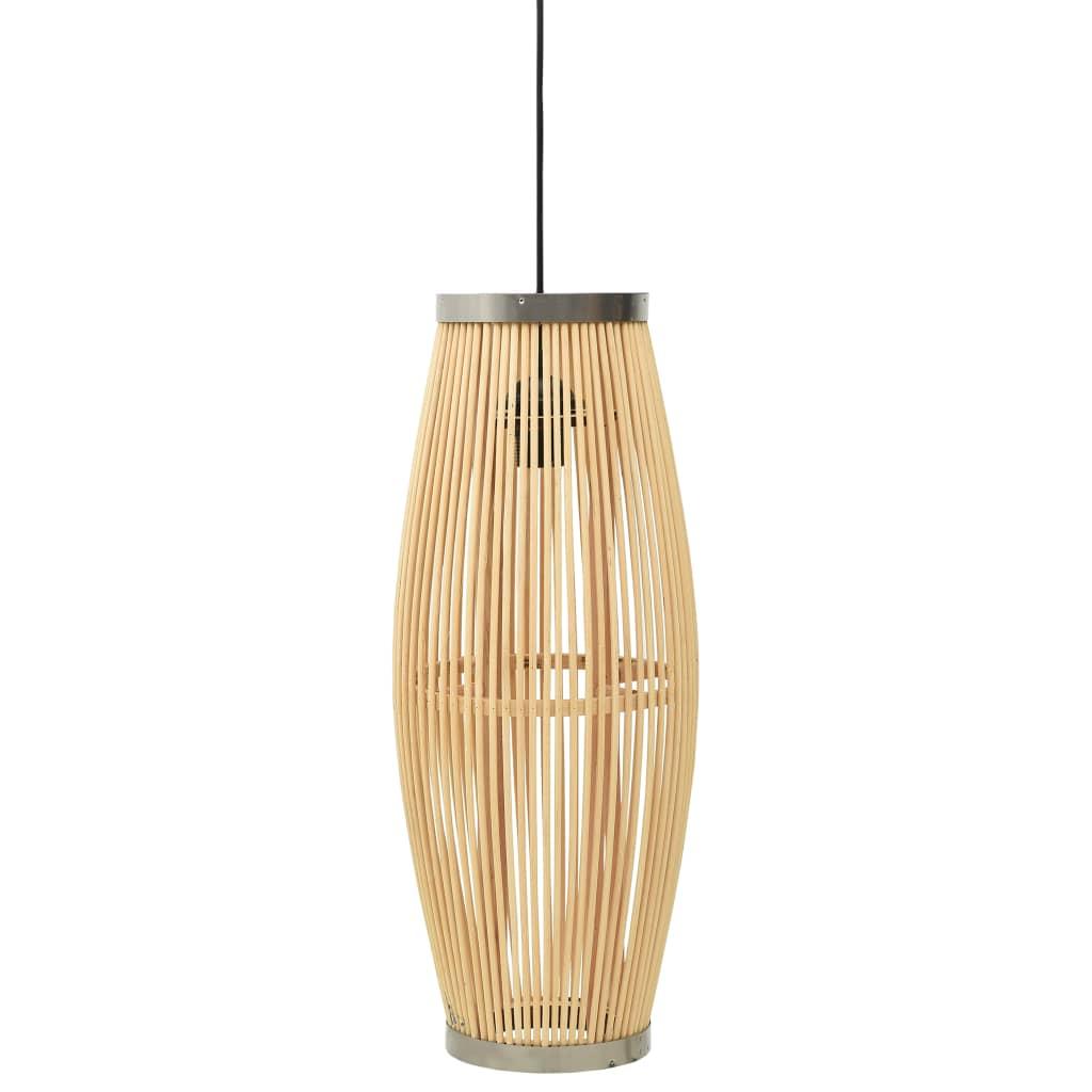 vidaXL Lampă suspendată, 25x62 cm, răchită, 40 W, oval, E27 vidaxl.ro