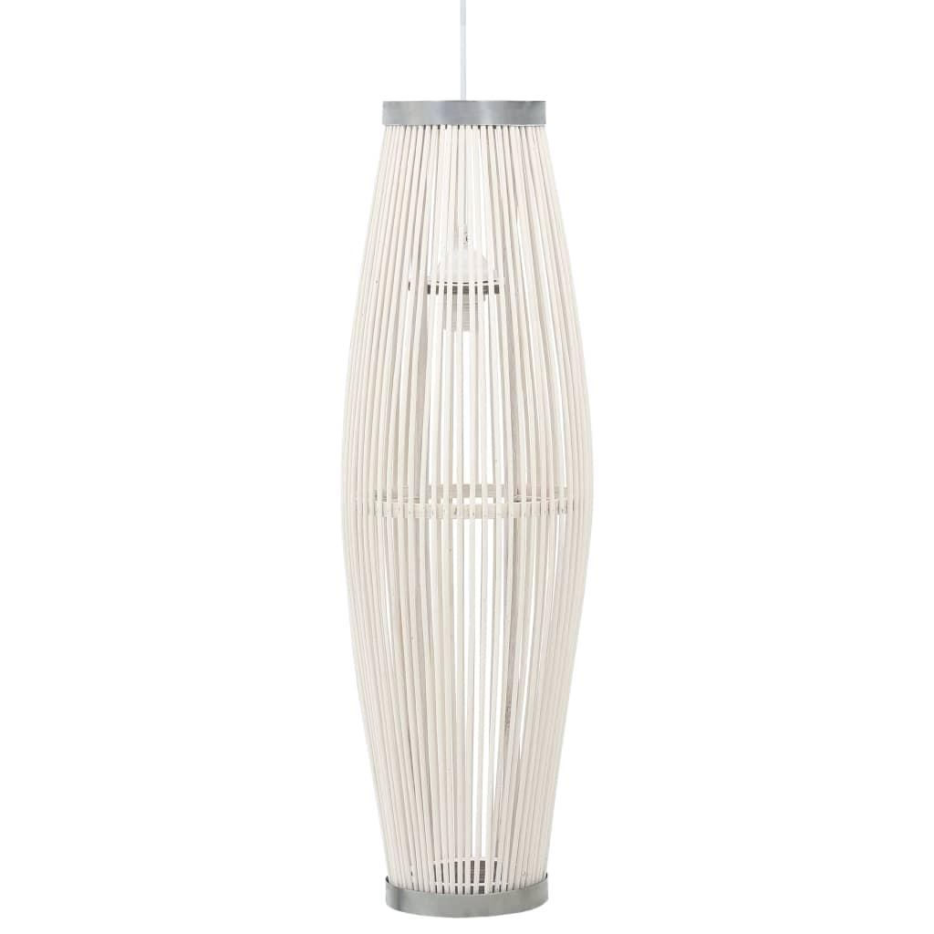 Závěsné svítidlo bílé vrba 40 W 27 x 68 cm ovál E27