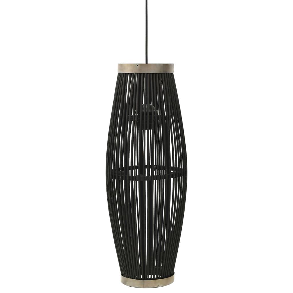 vidaXL Lampă suspendată, negru, 27x68 cm, răchită, 40 W, oval, E27 poza vidaxl.ro