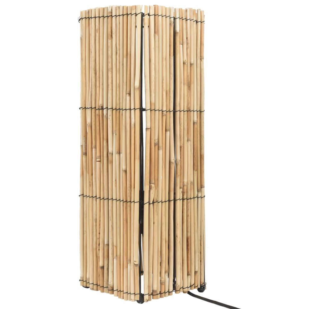 vidaXL Lampa podłogowa, trzcina, 60 W, 52 cm, E27