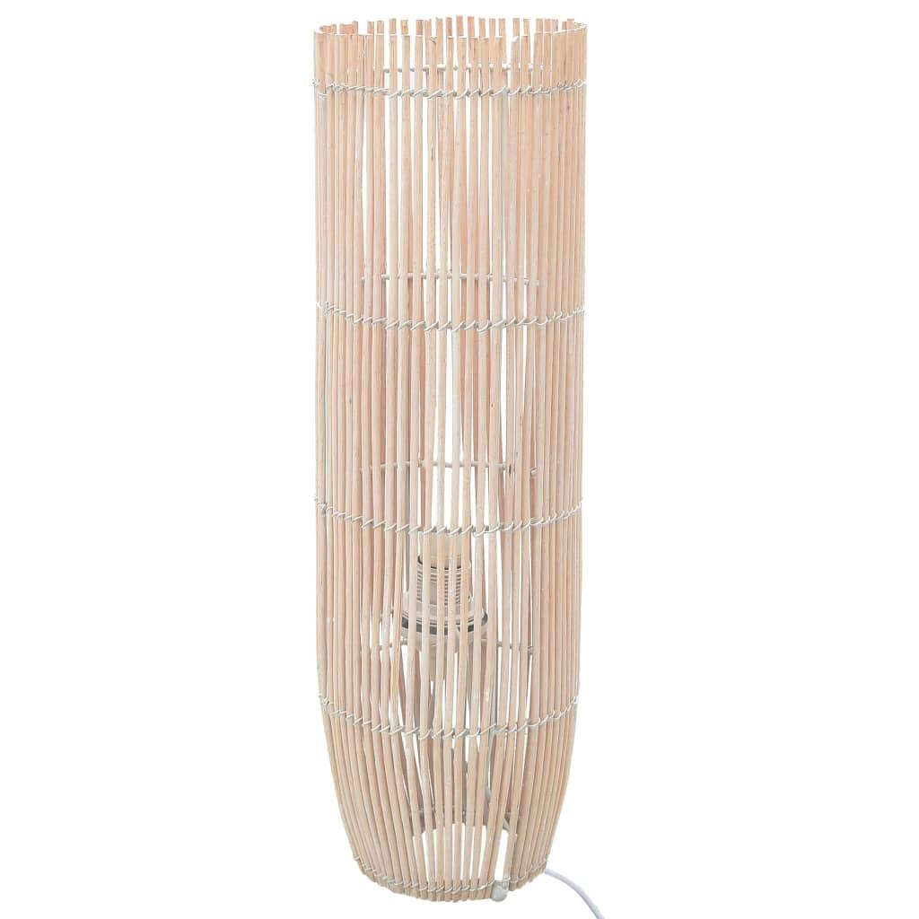 vidaXL Lampă de podea, alb, 52 cm, răchită, E27 poza 2021 vidaXL