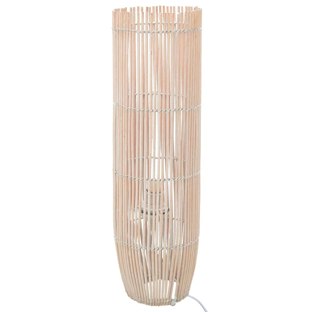 vidaXL Lampa podłogowa, wiklina, biała, 61 cm, E27
