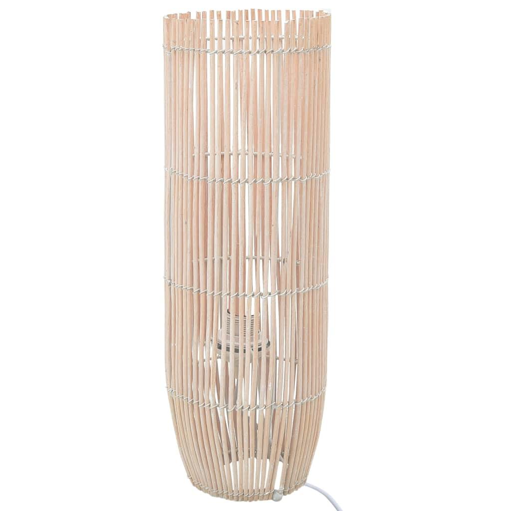 vidaXL Lampă de podea, alb, 72 cm, răchită, E27 imagine vidaxl.ro