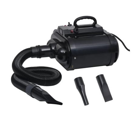 vidaXL Secador de mascotas doble motor negro