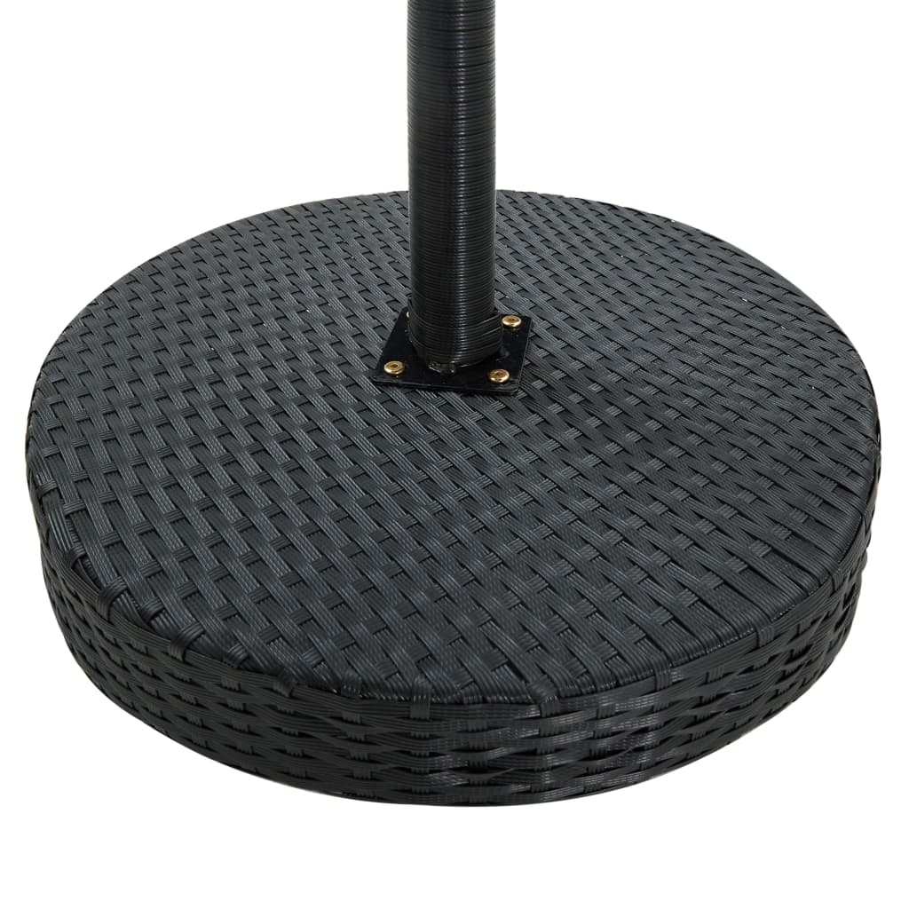 vidaXL Tuintafel 60,5x106 cm poly rattan zwart