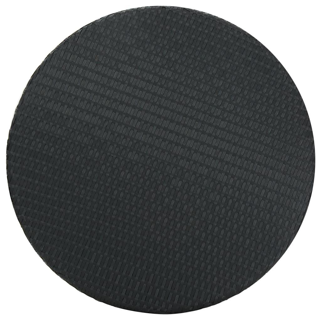 vidaXL Tuintafel 75,5x106 cm poly rattan zwart