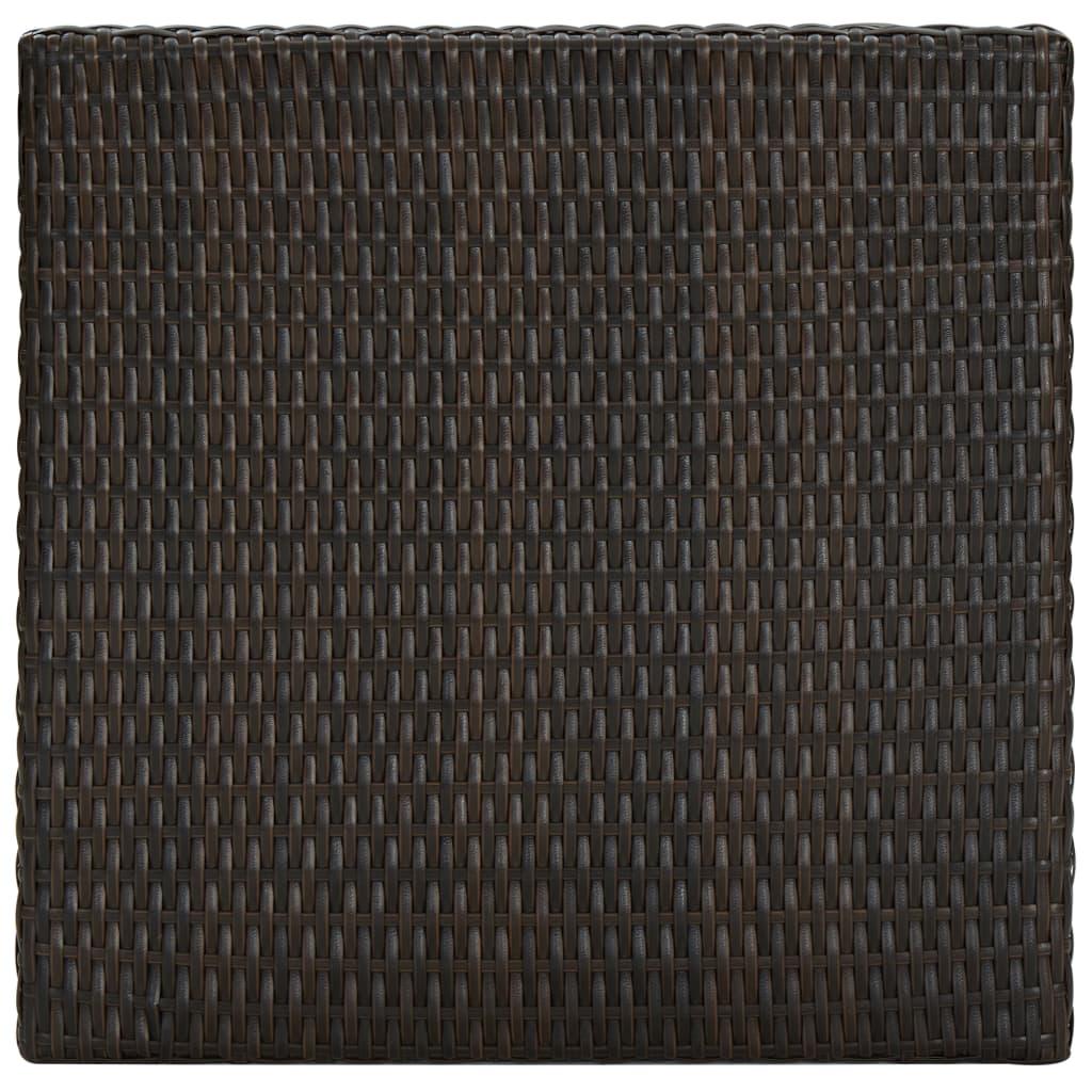 vidaXL Tuinbartafel 60,5x60,5x110,5 cm poly rattan bruin