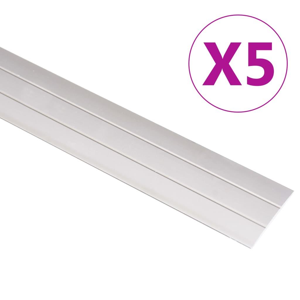 vidaXL Profile de pardoseală, 5 buc., auriu, 90 cm, aluminiu vidaxl.ro